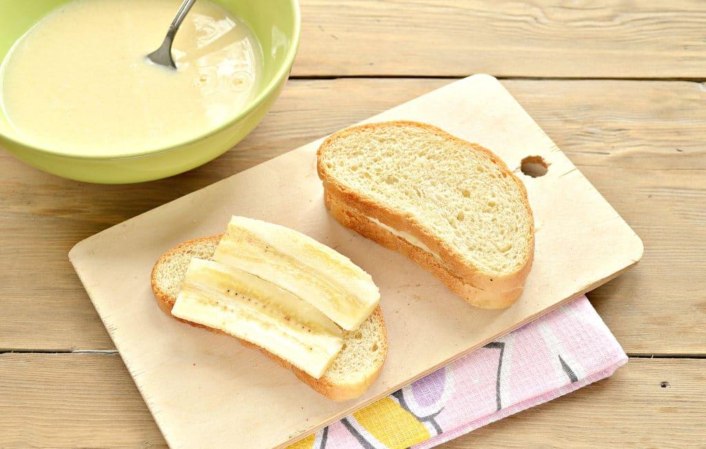 Фото рецепта - Гренки с бананами - шаг 4