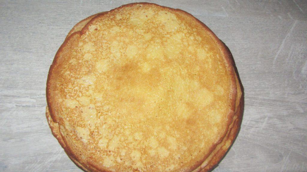 Фото рецепта - Запеченные блины с творогом и ванилью - шаг 1
