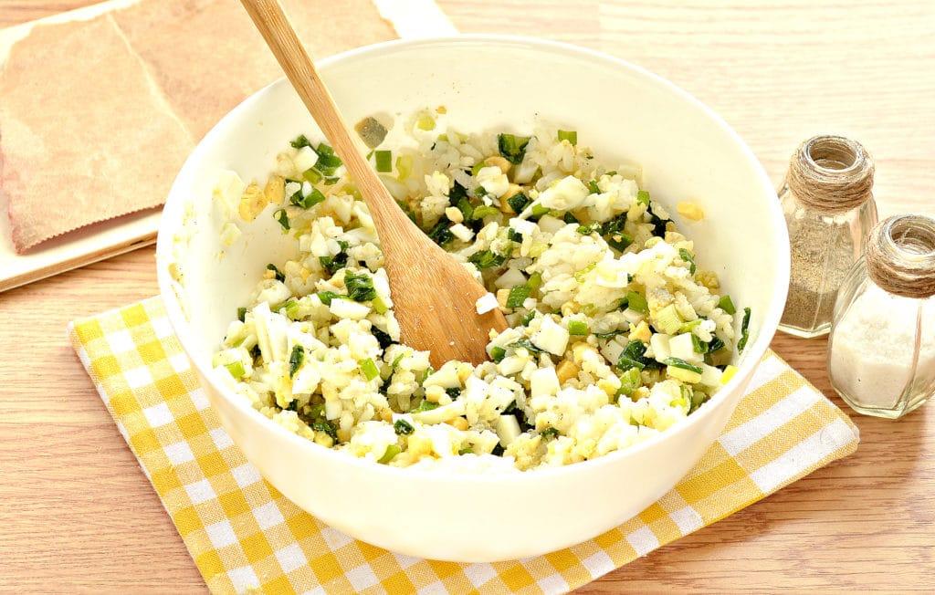 Фото рецепта - Рис с яйцом и луком (начинка для пирожков) - шаг 5