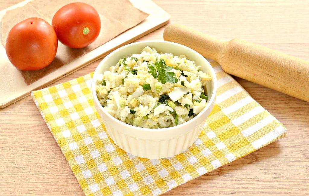 Фото рецепта - Рис с яйцом и луком (начинка для пирожков) - шаг 6