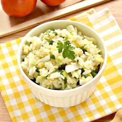 Рис с яйцом и луком (начинка для пирожков) - рецепт с фото