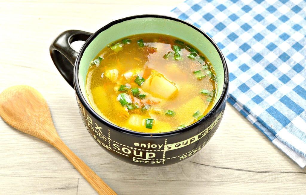 Фото рецепта - Гороховый суп с копченой курицей - шаг 7