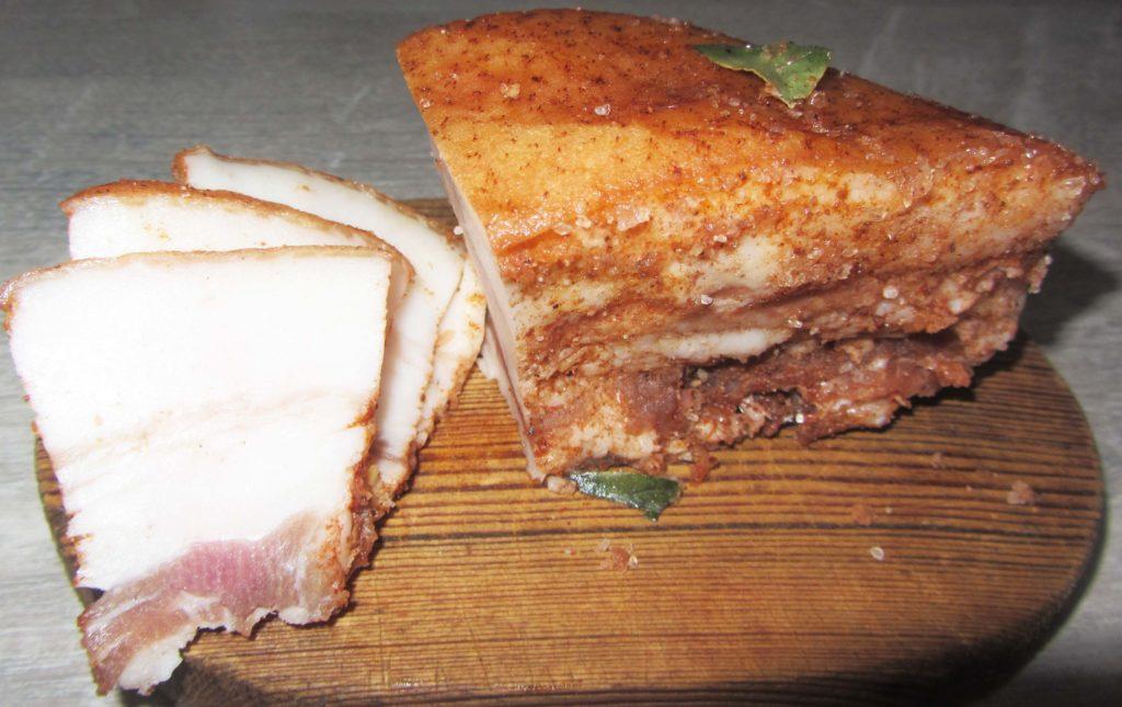 Фото рецепта - Сухой посол сала с чесноком и специями - шаг 4