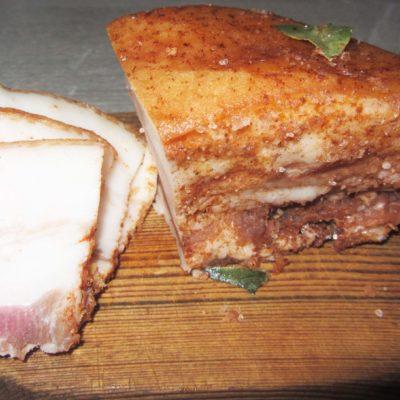 Сухой посол сала с чесноком и специями - рецепт с фото