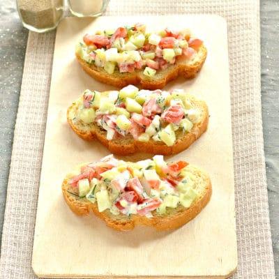 Бутерброды с салатом - рецепт с фото