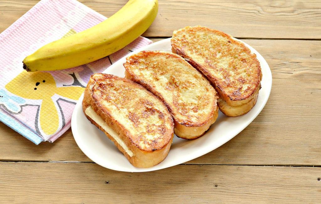 Фото рецепта - Гренки с бананами - шаг 8