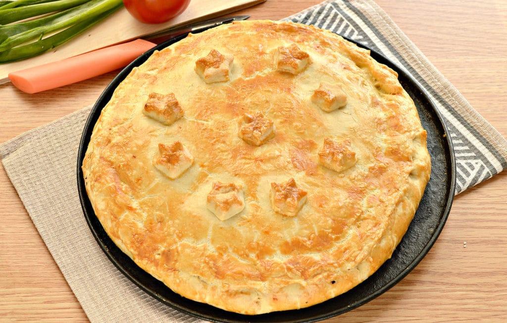Фото рецепта - Пирог с рисом и зеленым луком на песочном тесте - шаг 7