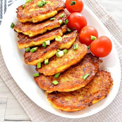 Морковно-картофельные оладьи - рецепт с фото
