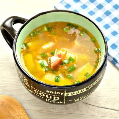 Гороховый суп с копченой курицей - рецепт с фото