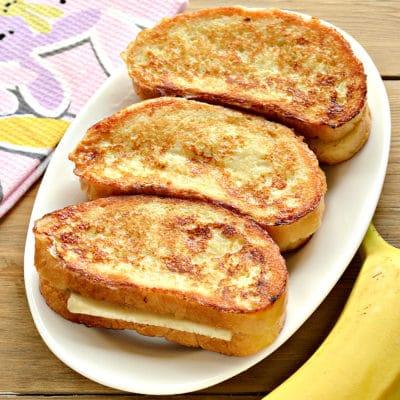 Гренки с бананами - рецепт с фото