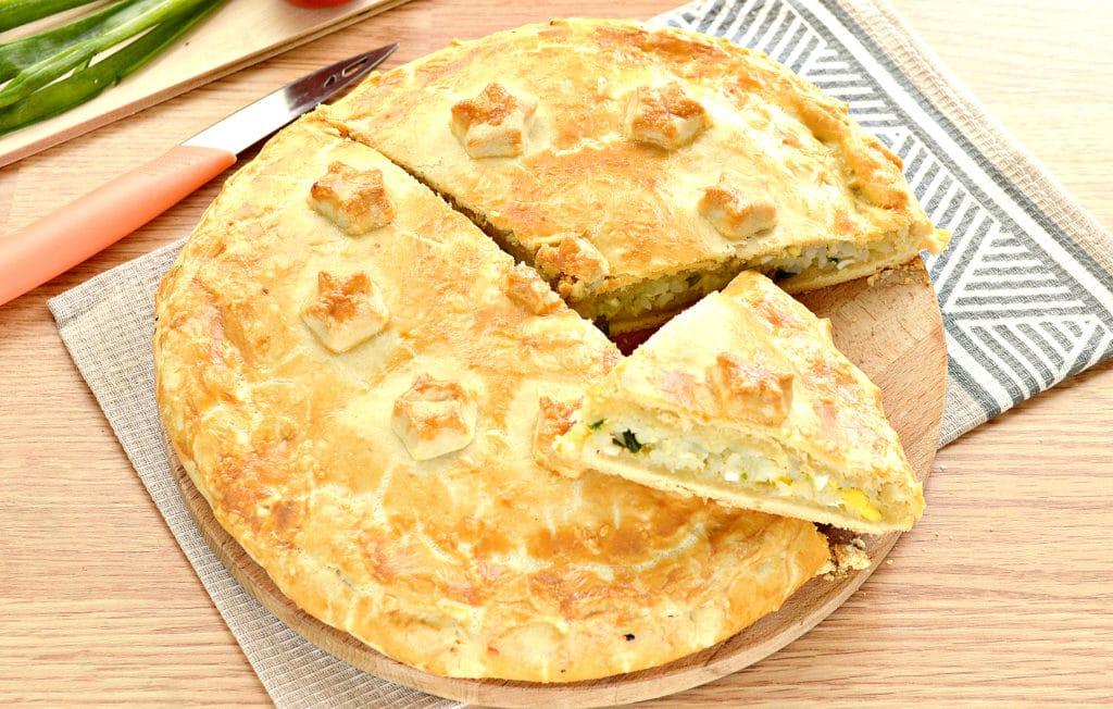 Фото рецепта - Пирог с рисом и зеленым луком на песочном тесте - шаг 8