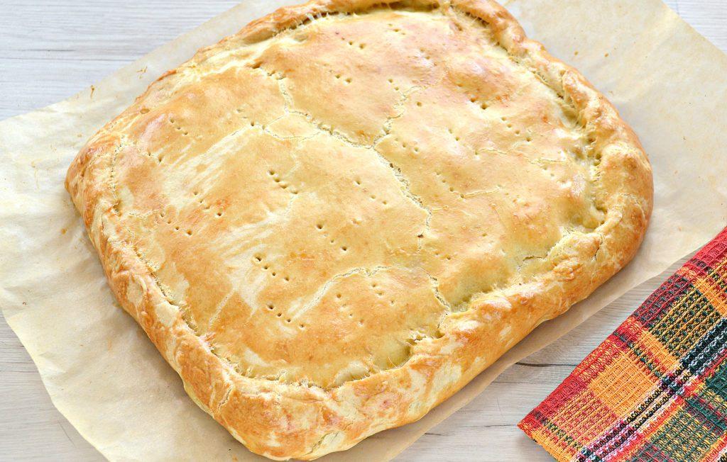 Фото рецепта - Пирог с картошкой и грибами - шаг 9