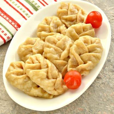Манты «косичкой» с картофелем и фаршем - рецепт с фото