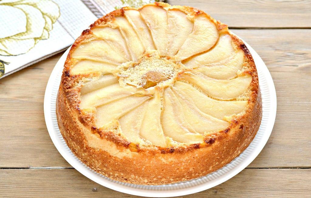 Фото рецепта - Быстрый грушевый пирог - шаг 9