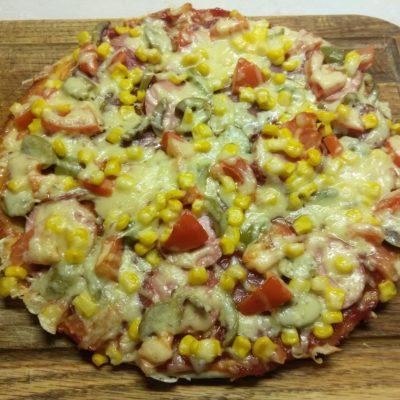 """Пицца царская """"Колбасное ассорти с оливками"""" - рецепт с фото"""