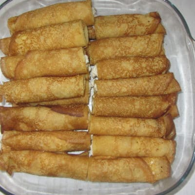 Фото рецепта - Запеченные блины с творогом и ванилью - шаг 3