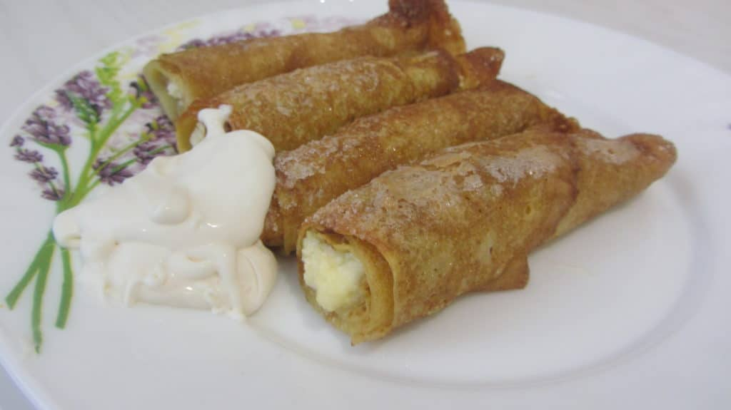 Фото рецепта - Запеченные блины с творогом и ванилью - шаг 5