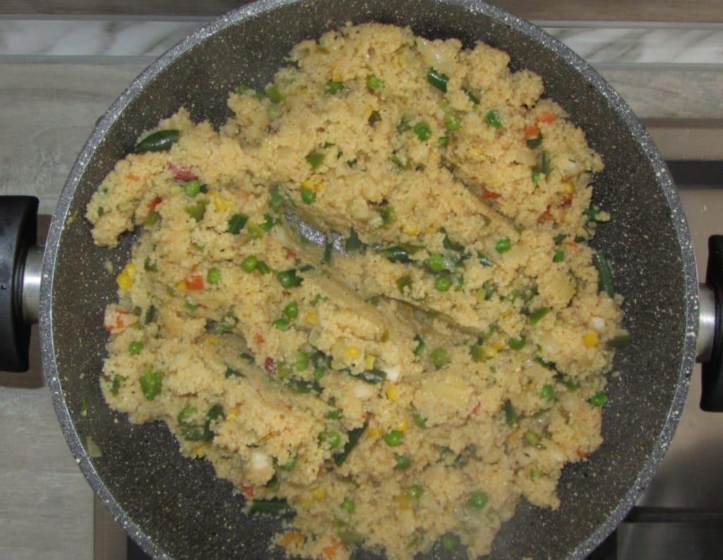 Фото рецепта - Кус-кус с овощной мексиканской смесью - шаг 4
