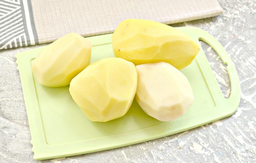 Фото рецепта - Запеченный картофель с салом - шаг 1
