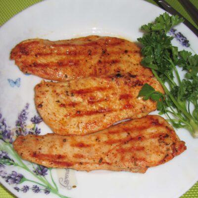 Куриное филе в маринаде на гриле - рецепт с фото
