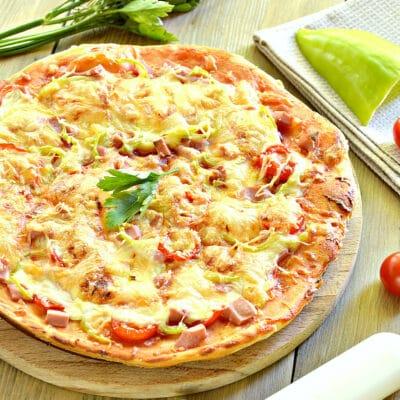 Пицца с болгарским перцем и черри - рецепт с фото