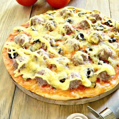 Пицца с фрикадельками - рецепт с фото