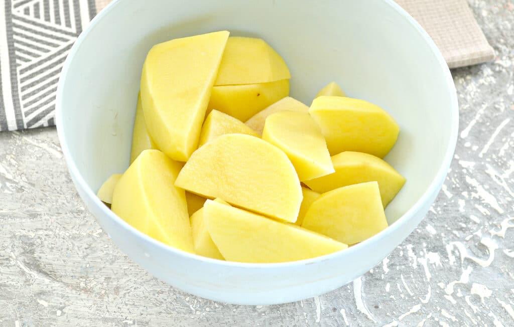 Фото рецепта - Запеченный картофель с салом - шаг 2