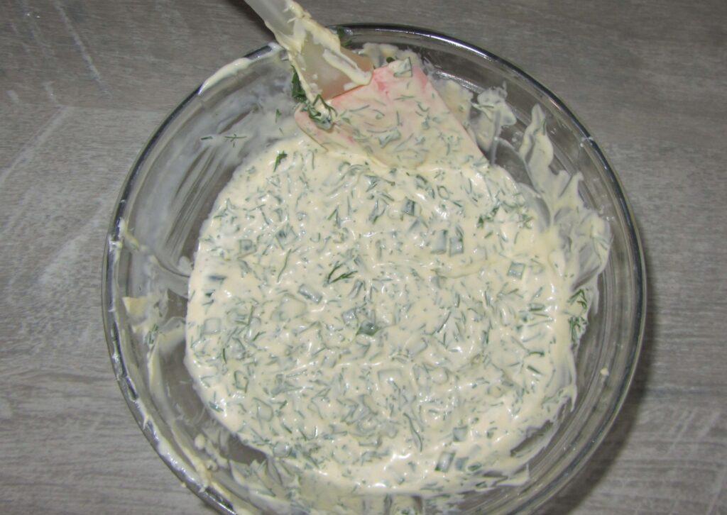 Фото рецепта - Сметанный соус с зеленью - шаг 3