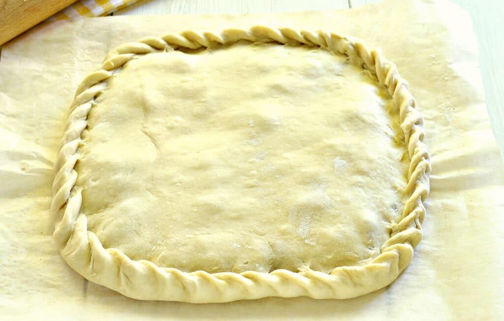 Фото рецепта - Быстрый пирог на кефире с вареньем - шаг 4