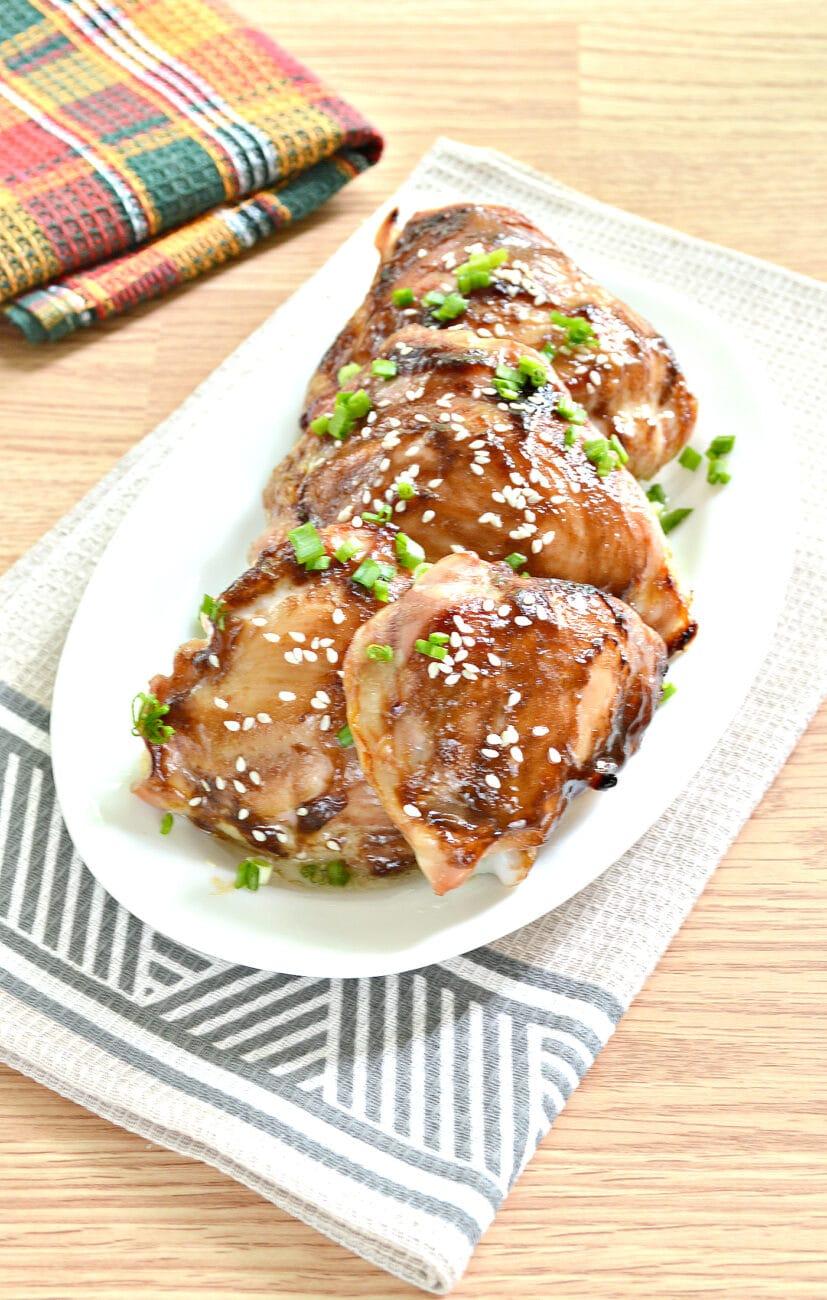Куриные бёдра с соусом терияки в духовке