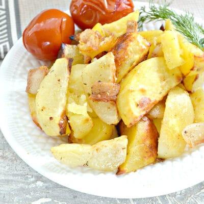 Запеченный картофель с салом - рецепт с фото