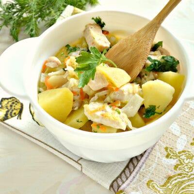 Овощное рагу с куриной грудкой и картофелем - рецепт с фото
