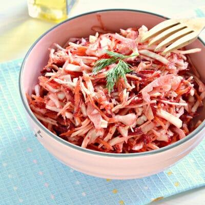 """Овощной салат """"Щетка"""" с сыром - рецепт с фото"""