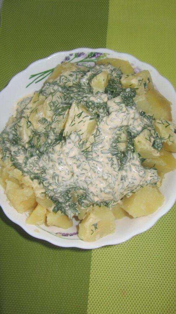 Фото рецепта - Сметанный соус с зеленью - шаг 4