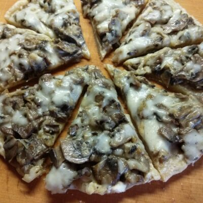Фото рецепта - Пицца с шампиньонами - шаг 5