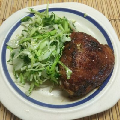 Фото рецепта - Куриные бедра в маринаде из горчицы, соевого соуса и меда - шаг 5