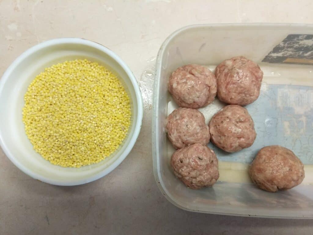 Фото рецепта - Суп с фрикадельками и пшённой крупой - шаг 4