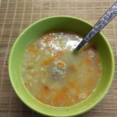 Суп с фрикадельками и пшённой крупой - рецепт с фото