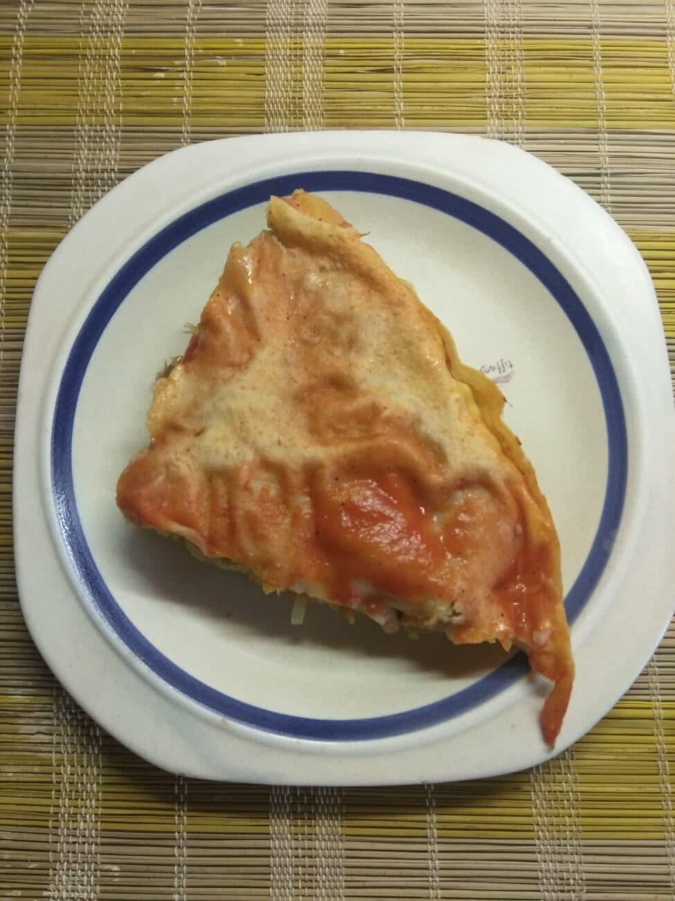 Пирог из лаваша с капустой и мясом