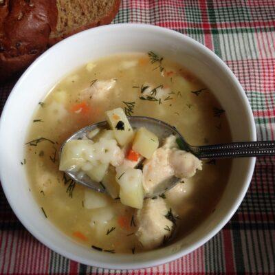 Детский суп из индейки с макаронами - рецепт с фото