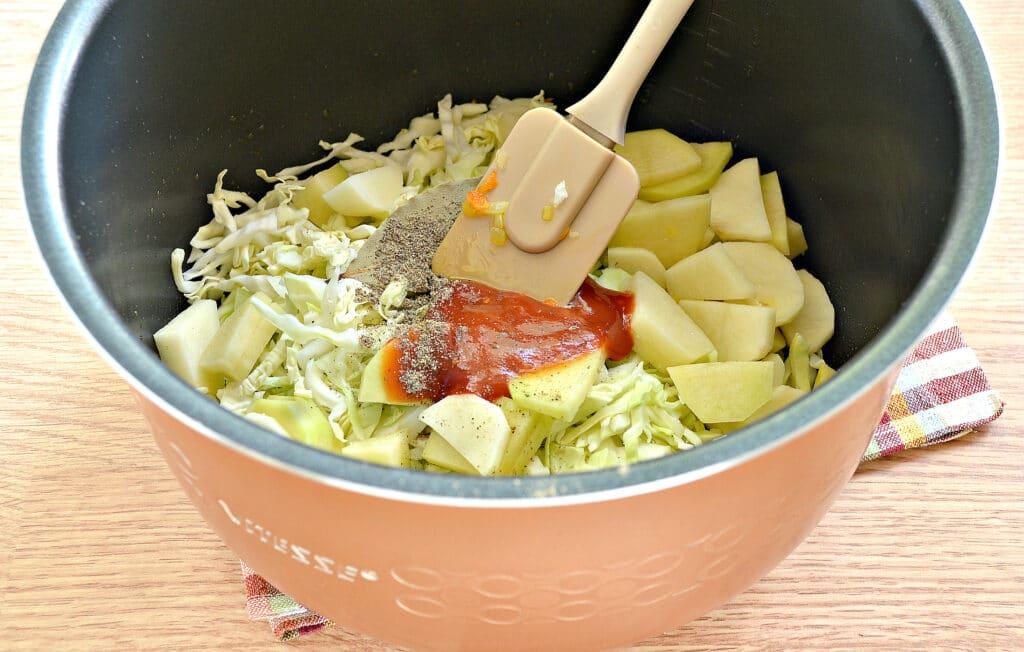 Фото рецепта - Щи на мясном бульоне в мультиварке - шаг 4