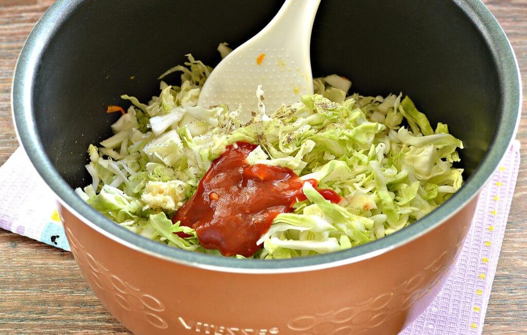 Фото рецепта - Солянка из капусты в мультиварке - шаг 4
