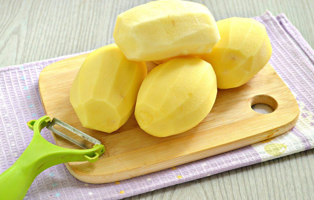 Фото рецепта - Картофель тушёный с салом в мультиварке - шаг 4