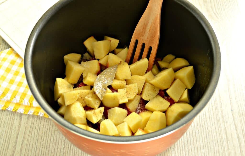 Фото рецепта - Жаркое с говядиной в мультиварке - шаг 7