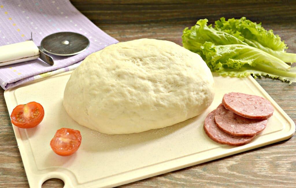 Фото рецепта - Тесто для пиццы с сухими дрожжами - шаг 7