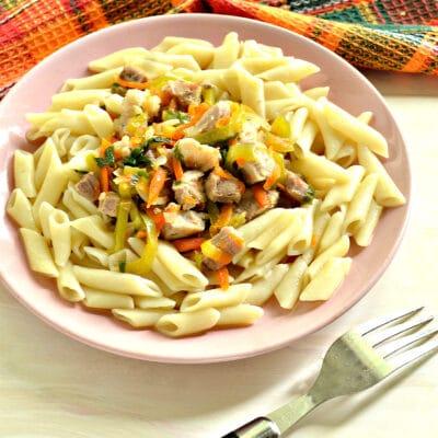 Мясная подлива с болгарским перцем - рецепт с фото