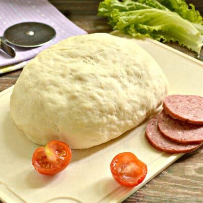Тесто для пиццы с сухими дрожжами - рецепт с фото
