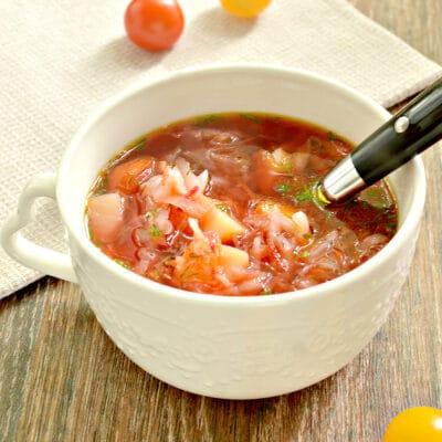 Домашний борщ со свеклой и говядиной - рецепт с фото