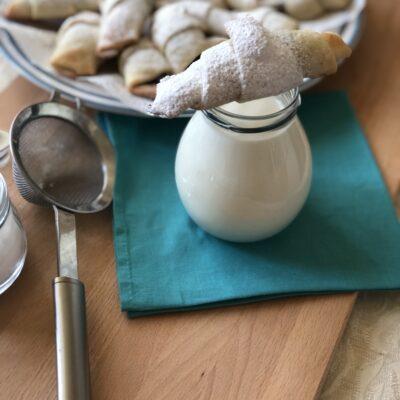 Рогалики с варенной сгущёнкой - рецепт с фото