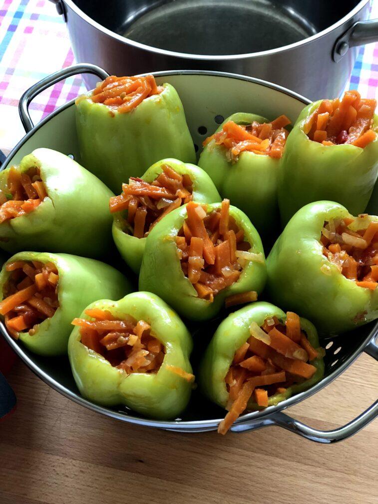 Фото рецепта - Перцы фаршированные овощами - шаг 8